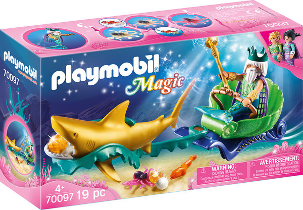Playmobil Magic 70097 Triton mit Haikutsche